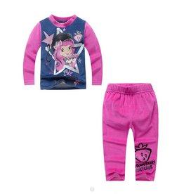 LaraModa Strawberry Shortcake Pyjama - fleece - blauw / roze