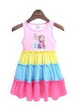 Meisjeskleding Disney Frozen Meisjes Jurk - roze / geel / blauw