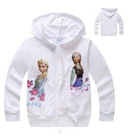 Meisjeskleding Frozen Sweatvest 7 - wit