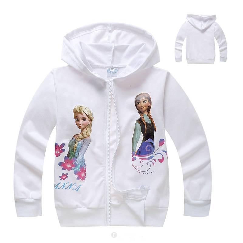 Meisjeskleding Disney Frozen Meisjes Sweatvest 7 - wit