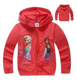 Meisjeskleding Frozen Sweatvest 7 - rood