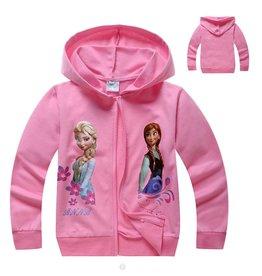 Meisjeskleding Disney Frozen Sweatvest 7 - roze