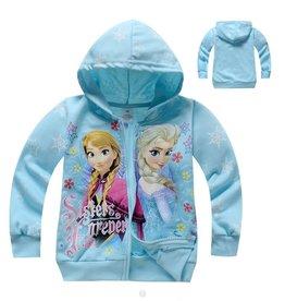 Meisjeskleding Disney Frozen Sweatvest - lichtblauw