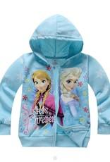 LaraModa Disney Frozen Meisjes Sweatvest - lichtblauw