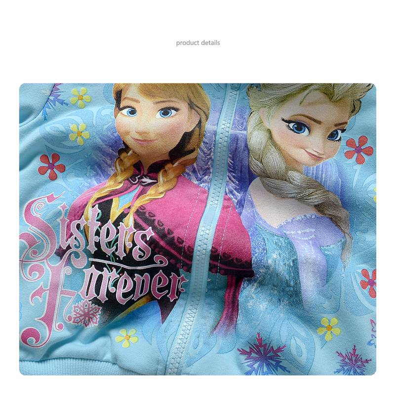 Meisjeskleding Frozen Meisjes Sweatvest - lichtblauw