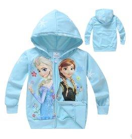 LaraModa Disney Frozen Sweatvest 3 - lichtblauw