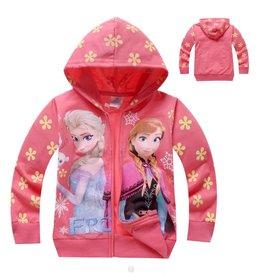 Meisjeskleding Disney Frozen Sweatvest 2 - zalm / lichtrood