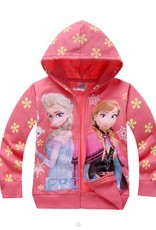 LaraModa Disney Frozen Meisjes Sweatvest 2 - zalm / lichtrood