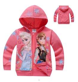 Meisjeskleding Frozen Sweatvest 3 - zalm / lichtrood