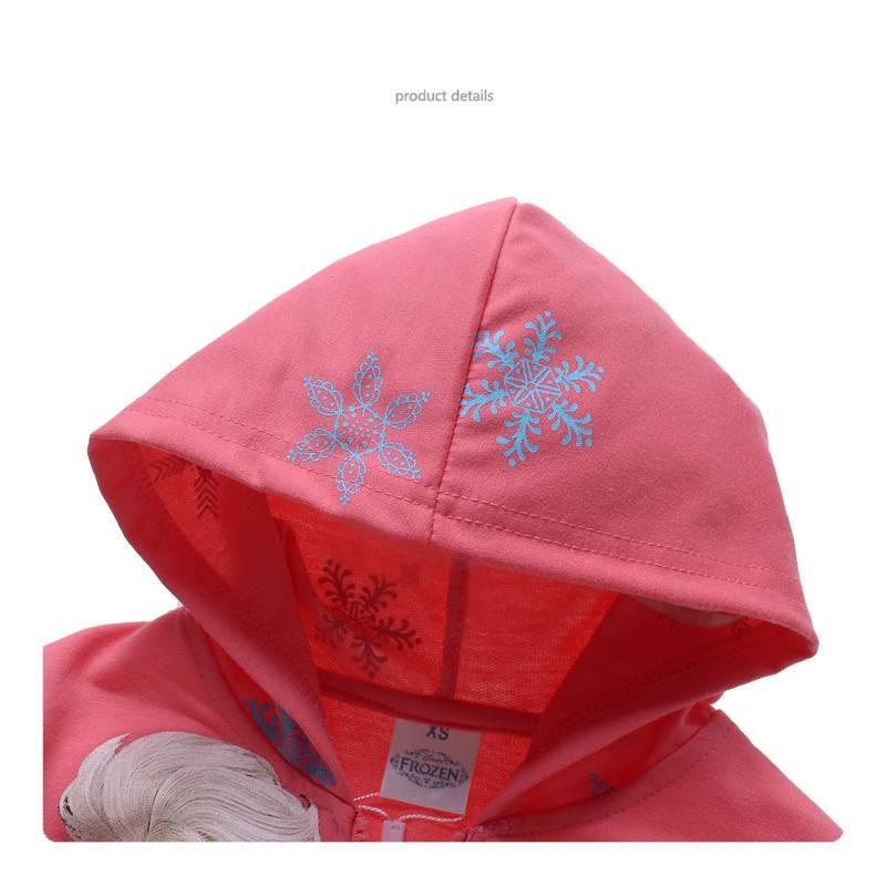 Meisjeskleding Frozen Meisjes Sweatvest 3 - zalm / lichtrood