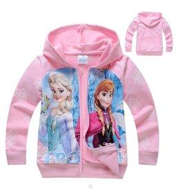 Meisjeskleding Disney Frozen Sweatvest 6 - lichtroze