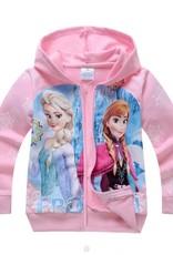 Meisjeskleding Frozen Meisjes Sweatvest 6 - lichtroze
