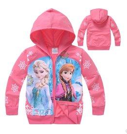 LaraModa Disney Frozen Sweatvest 6 - zalm / lichtrood