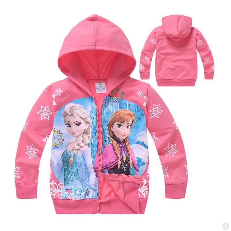 Meisjeskleding Disney Frozen Meisjes Sweatvest 6 - zalm / lichtrood