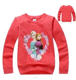 Meisjeskleding Frozen Sweater 2 - rood