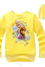 LaraModa Disney Frozen Meisjes Sweater 4 - geel