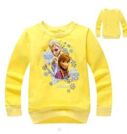 Meisjeskleding Frozen Sweater 4 - geel