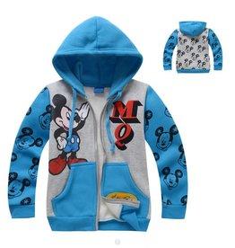 LaraModa Mickey Mouse Sweatvest - blauw