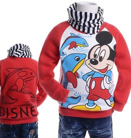 LaraModa Mickey Mouse Sweater 2 - rood