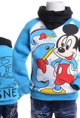 LaraModa Mickey Mouse Jongens Sweater 2 - blauw