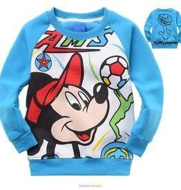 LaraModa Mickey Mouse Sweater 3 - blauw