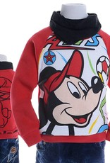 LaraModa Mickey Mouse Jongens Sweater 3 - rood