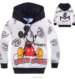 LaraModa Mickey Mouse Sweater - wit / zwart
