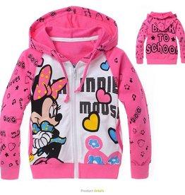 Sweatvest Minnie Mouse, roze