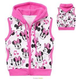 Meisjeskleding Minnie Mouse Sweatvest - mouwloos - roze