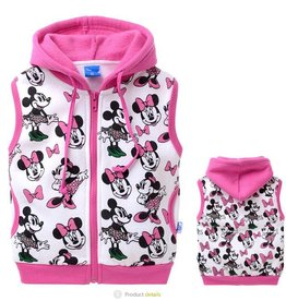 Sweatvest Minnie Mouse 2, mouwloos, roze