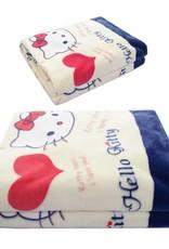 Kinderdekens Hello Kitty Fleece Kinderdeken 150x220 cm - rood / wit / blauw