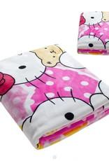 Kinderdekens Hello Kitty Fleece Kinderdeken 150x220 cm - roze