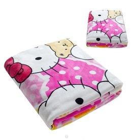 Fleece Kinderdeken Hello Kitty 150x230 cm, roze