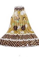LaraModa Schapen Fleece Kinderdeken 150x220 cm - beige