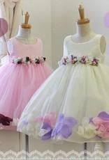 LaraModa Meisjes Feestjurk Karen - roze