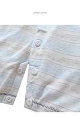Babykleding Beertje Jongens Boxpakje / Romper - blauw / grijs gestreept