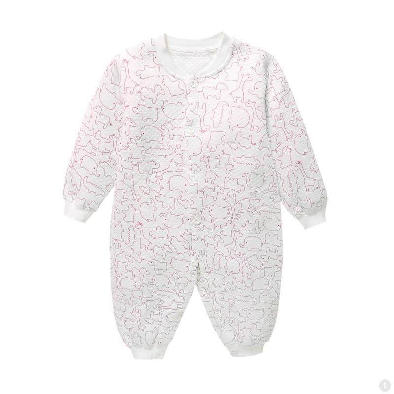 Babykleding Dieren Jongens en Meisjes Boxpakje / Romper - wit / rood