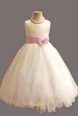 Meisjeskleding Meisjes Feestjurk Betsy - wit / lichtroze