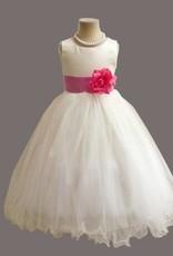 Meisjeskleding Meisjes Feestjurk Betsy - wit / donkerroze