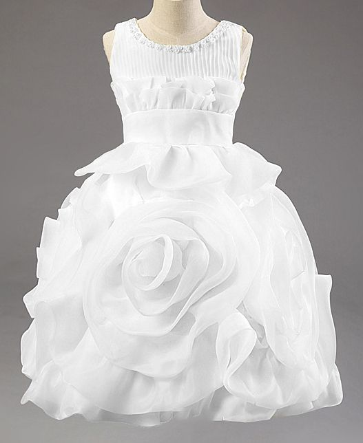 Meisjeskleding Meisjes Feestjurk Rosalin - wit