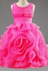 Meisjeskleding Meisjes Feestjurk Rosalin - donkerroze (fuchsia)