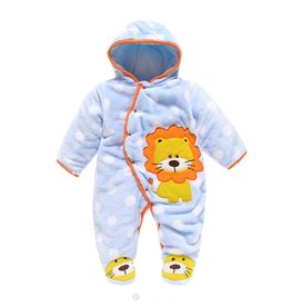 Babykleding Leeuwtje Boxpakje met capuchon 2 - blauw