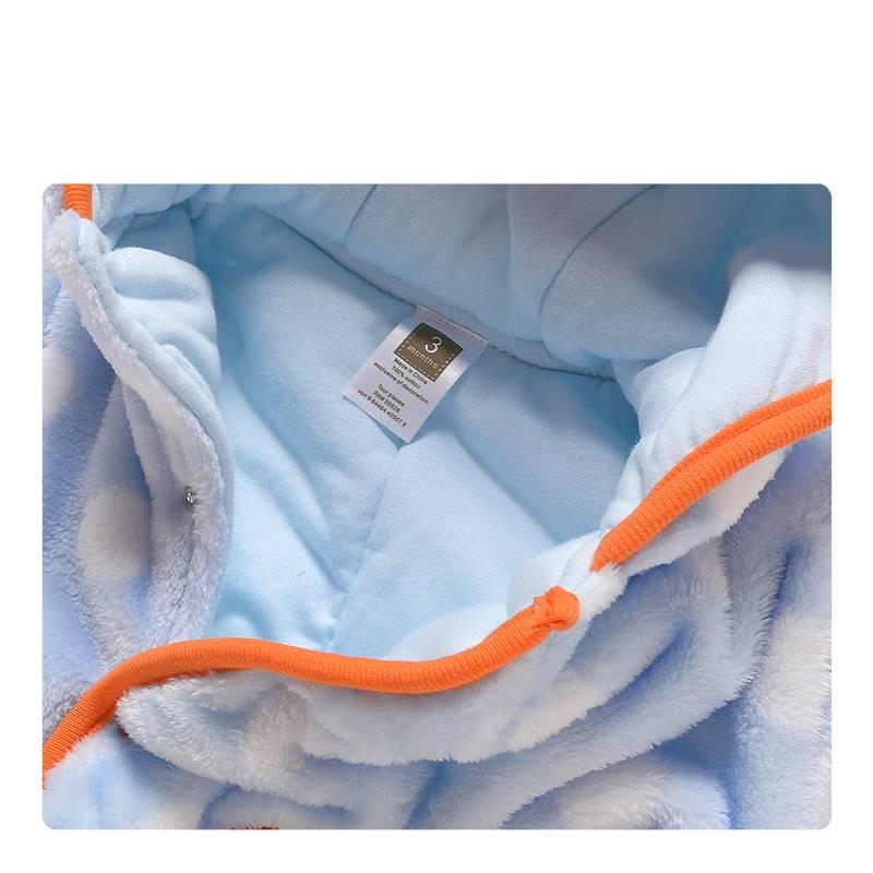 LaraModa Leeuwtje Jongens Boxpakje met capuchon 2 - blauw