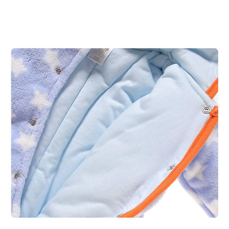 LaraModa Pinguin Jongens Boxpakje met capuchon - blauw