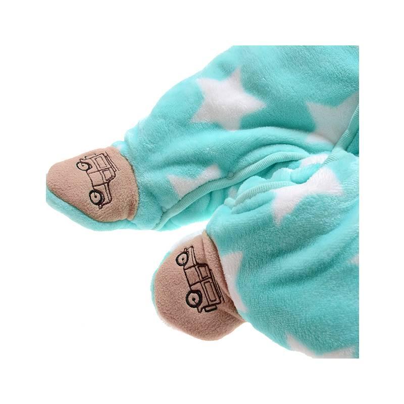 Babykleding Auto en Sterren Jongens Boxpakje met capuchon - blauw