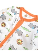 Babykleding Safari Dieren Jongens Boxpakje 2 - wit / oranje