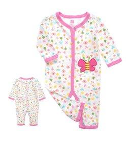 Babykleding Vlinder Boxpakje - wit / roze