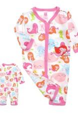 Babykleding Zeemeermin Meisjes Boxpakje - wit / roze