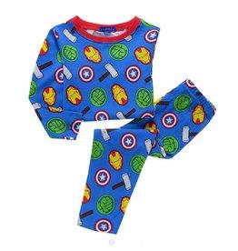 Pyjama Avengers, 2-delig, blauw
