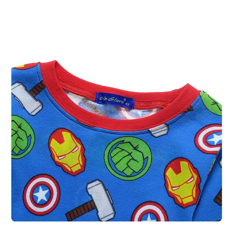 LaraModa Avengers Jongens Pyjama - blauw